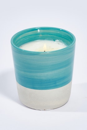 Lantern Cove Brushstrokes 8oz Sea Spray Ceramic Candle