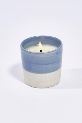 Lantern Cove Brushstrokes 3oz Blueberry Ceramic Candle