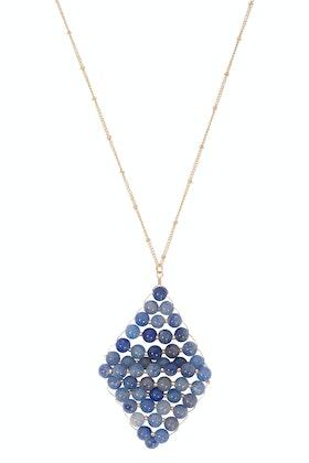 GxG Collective Anne Semi Precious Long Necklace