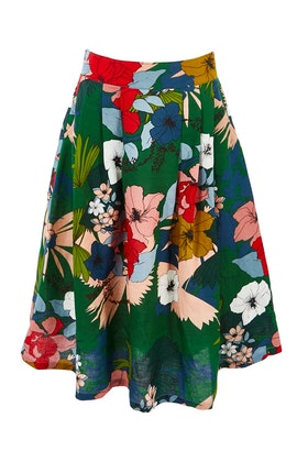 Elise Roxy Linen Floral Skirt