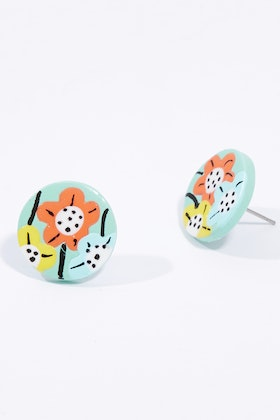 Seeking Hazel Large Flower Stud Earrings