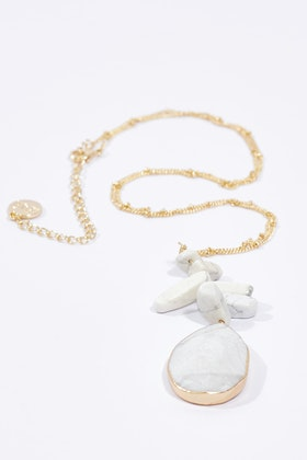 GxG Collective Katherine Long Natural Stone Necklace