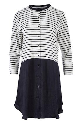 Clarity By Threadz Spliced Stripe Tunic
