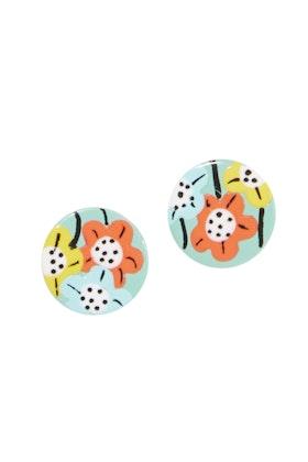 Seeking Hazel Large Flower Stud Earrings