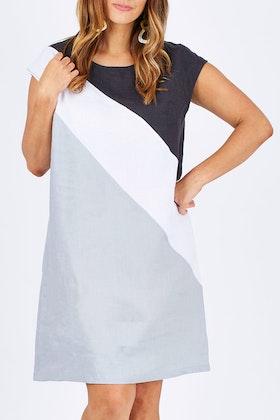 See Saw Cap Sl Splice Dress