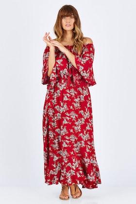 Cordelia St Floral Off The Shoulder Dress