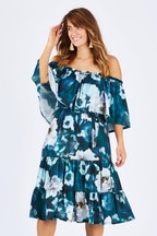 boho bird Flower Markets Dress