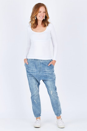 Eb & Ive Sable Denim Slouch