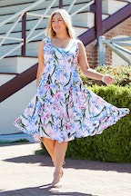 Belle bird Belle Woven Print Dress