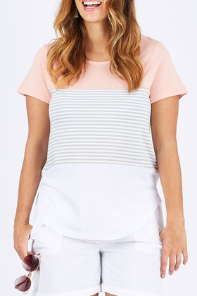 bird keepers The Contrast Stripe Tee