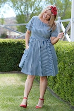 handpicked by birds Contrast Stripe Dress