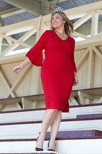 bird by design The Bell Sleeve Pencil Dress
