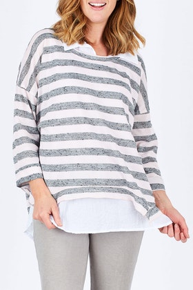 Threadz Layered Stripe Top