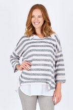 Threadz Layered Stripe Top