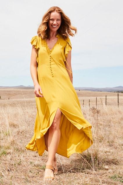Fate + Becker Bel Air Frilled Dress - Womens Maxi Dresses - Birdsnest  Online Shop a2b9ef722