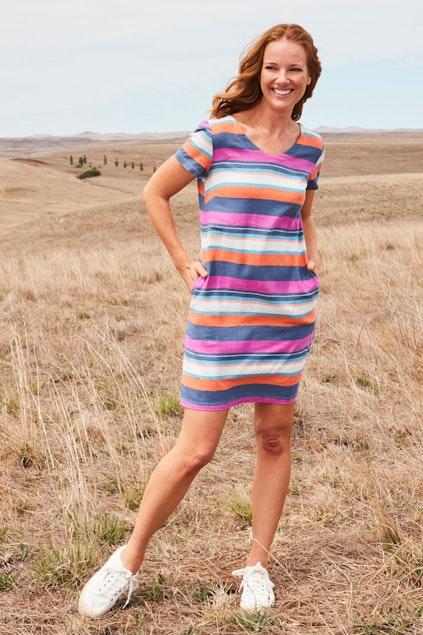 8457dca72fa732 Lily & Me Linen Shift Dress - Womens Short Dresses - Birdsnest ...