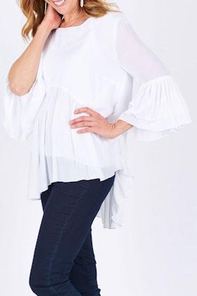 Threadz Long Sleeve Ruffle Shirt
