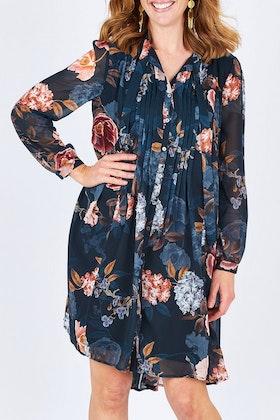 Jump Hydrangea Haven Pleat Dress