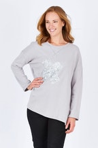 Threadz Silver Cross Sweater