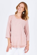 Threadz Ruffle Hem Jersey Top