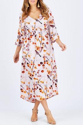 boho bird Campari Delights Dress