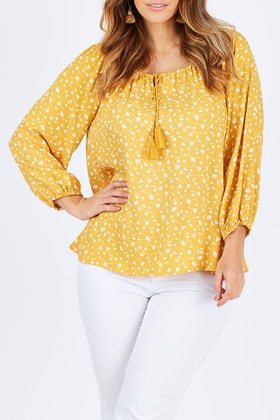 Fate + Becker Endless Summer Peasant Top