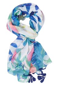Bright Scarf With Tassels