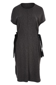 Textured Pinafore Dress