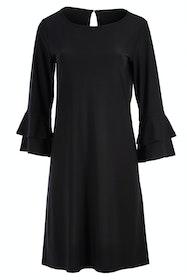 Double Flutter Jersey Dress