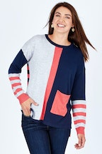 Clarity By Threadz Multi Stripe Jumper