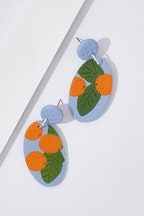 Seeking Hazel Large Dangle Clementine Earrings