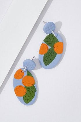 Seeking Hazel Large Dangle Clementine Earrings