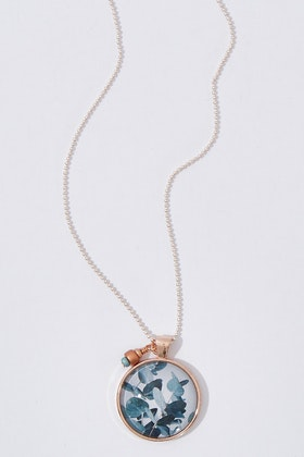 Nest Of Pambula Eucalyptus Pendant With Seed Beads Necklace
