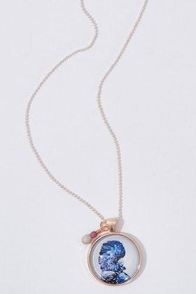Nest Of Pambula Black Cockatoo Pendant With Geometric Beads Necklace