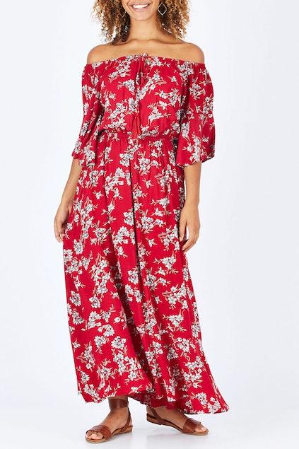c6bf052ceb10 Cordelia St Floral Off The Shoulder Dress - Womens Maxi Dresses ...