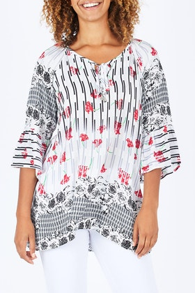 Cordelia St The Summer Peasant Top