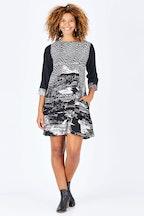 Orientique Scene Print Dress