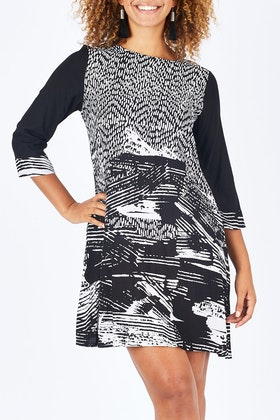 Orientique Scene Print Dress