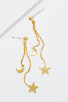 Jolie & Deen Hanging Star And Moon Earrings