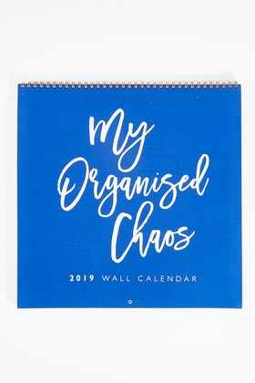 Write To Me My Organised Chaos Wall Calendar 2019