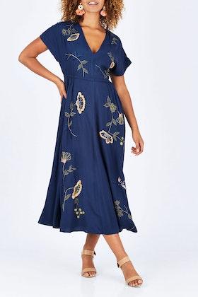lazybones Sofia Embroided Maxi Dress