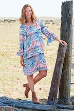 Threadz Paisley Print Dress