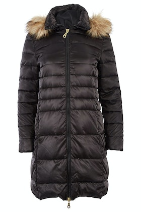 Pretty In Pink Longline Down Jacket