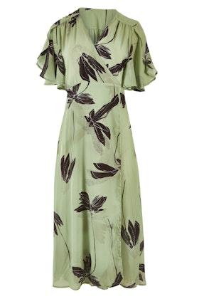 Spicy Sugar Printed Wrap Midi Length Dress