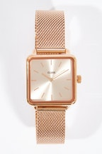 Cluse Watches La Garconne Mesh Rose Gold Watch