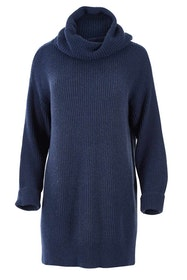 Cotton Wool Blend Rolled Neck Tunic