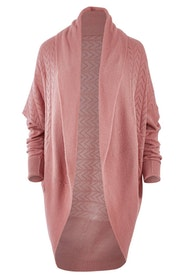 Cotton Wool Blend Cocoon Cardigan