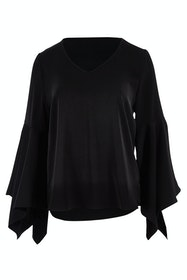The Define Flute Sleeve Blouse
