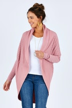 Natural for birds Cotton Wool Blend Cocoon Cardigan