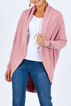 Natural for birds Natural Pattern Cocoon Cardigan